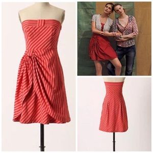 Anthropologie Lil Strapless Dress